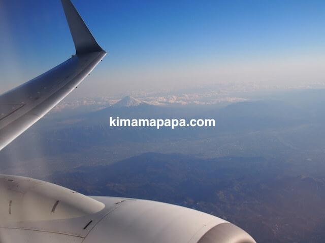 羽田空港から小松空港に行く途中、富士山