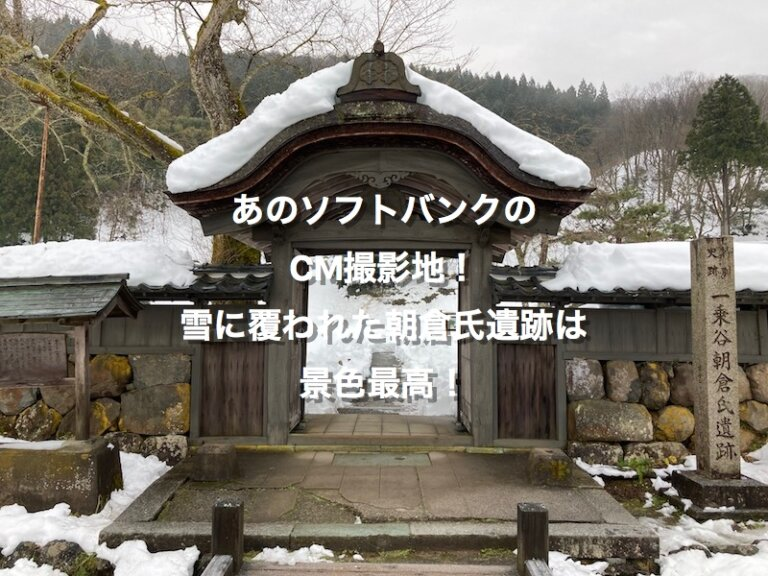 冬の朝倉氏遺跡、唐門