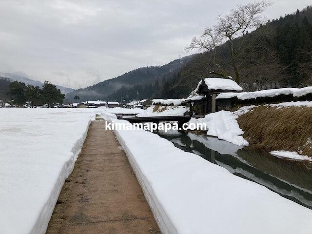 冬の朝倉氏遺跡、朝倉館跡の堀