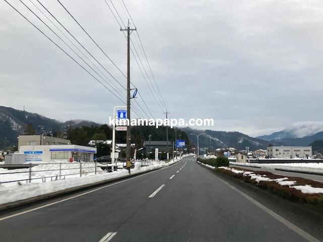 福井市、冬の朝倉氏遺跡への行き方