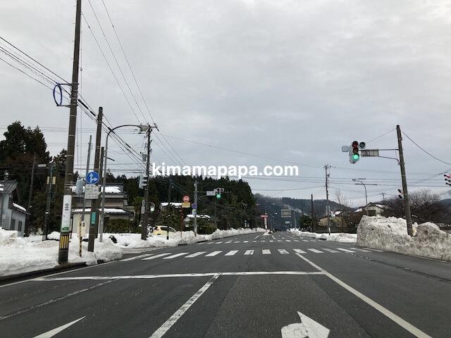 冬の朝倉氏遺跡への行き方、158号線