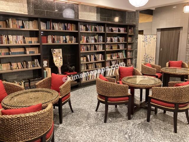 芦原温泉、芦原グランドホテルの読書コーナー