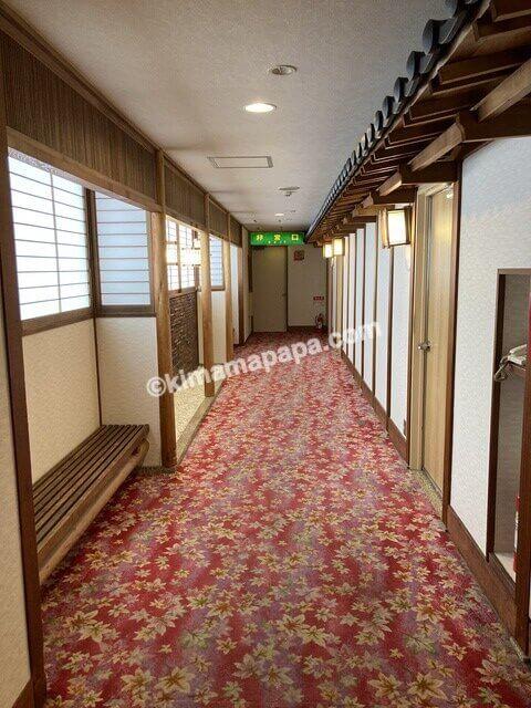 芦原温泉、芦原グランドホテルの通路