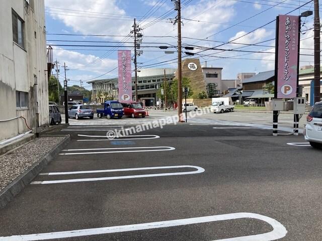 芦原温泉、芦原グランドホテルの駐車場