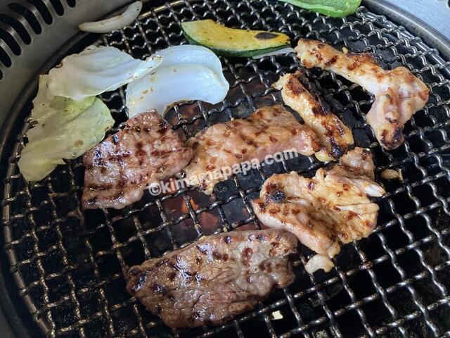 福井県あわら市なかや、ミックス焼肉ランチ