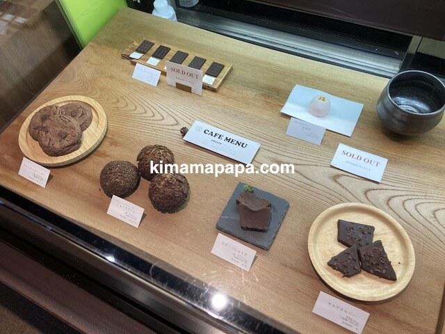 福井市、山奥チョコレート日和のディスプレイ