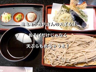 遊亀庵かめやさんの天ざるは、おそばだけじゃなく天ぷらもめちゃうま!