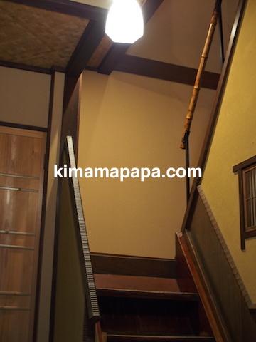 福井県越前市、うるしやの階段