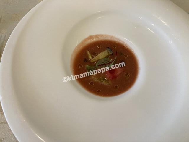 福井市ジャルダン、ランチコースのスープ