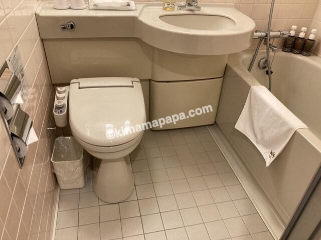 ホテルフジタ、スタンダードルームのバスルーム
