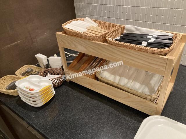 ホテルフジタ、朝食の食器類