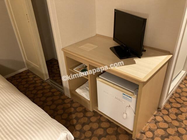 ホテルフジタ、スタンダードルームのテレビ