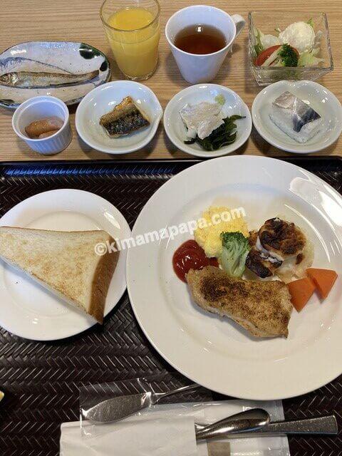 福井市、マンテンホテルの洋朝食