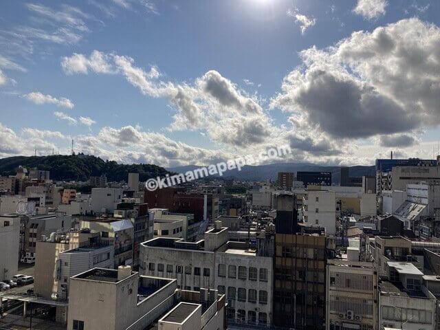 福井市、マンテンホテルから見た景色