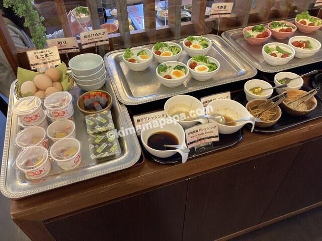 ホテルリバージュアケボノ、朝食のサラダ