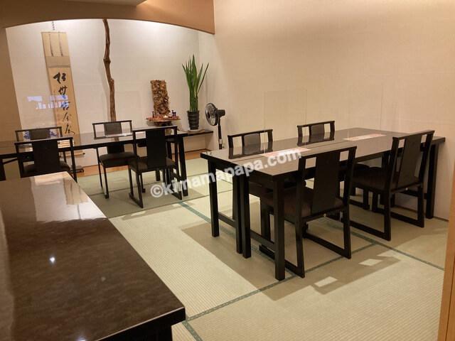福井市、ホテルリバージュアケボノの朝食会場