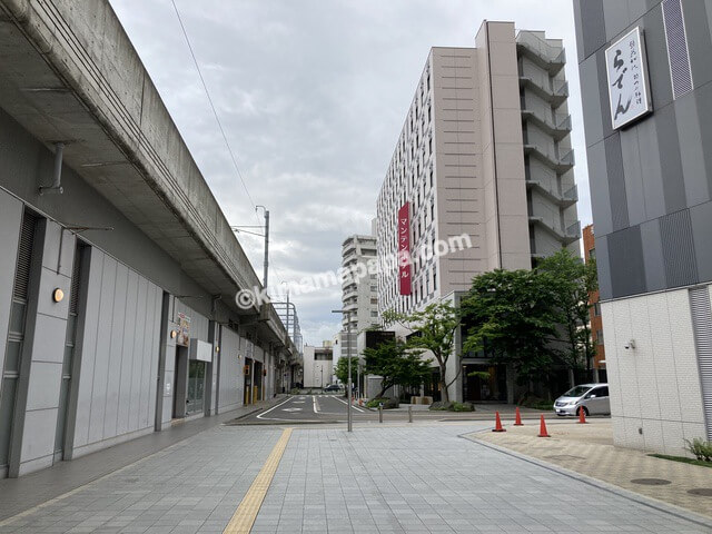 福井市、福井駅西口からのマンテンホテル