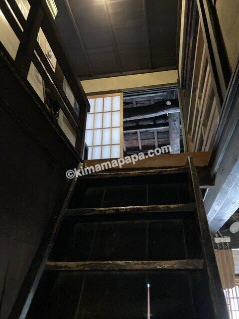今庄宿、六助の階段