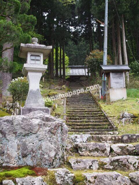 今庄宿、今庄観音堂への階段