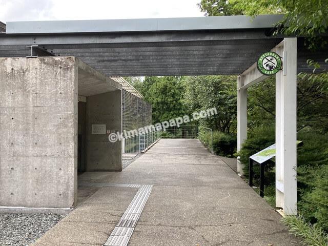 福井県金津創作の森美術館、施設入口