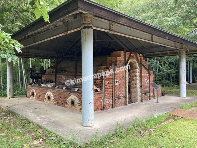 福井県金津創作の森美術館、旧瓦工場後の瓦窯