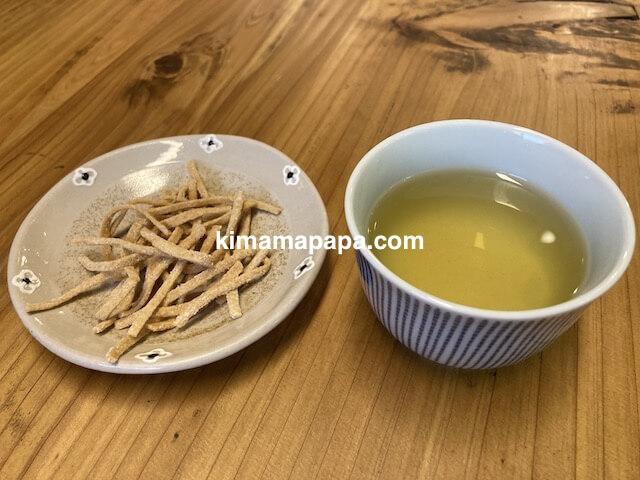 勝山市、石挽蕎麦好太郎のお茶