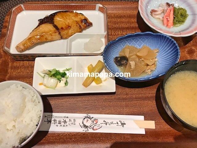 福井県丸岡町、炭魚ほんだのブリの照り焼き定食