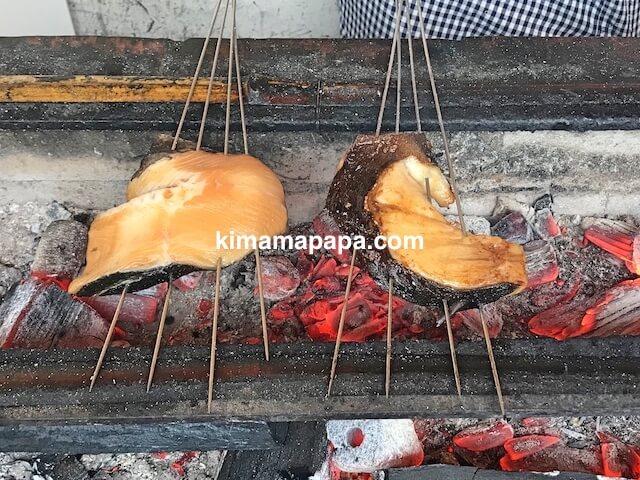 福井県丸岡町、炭魚ほんだのムツ照り焼き
