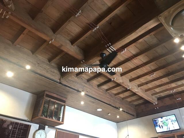 福井県丸岡町、炭魚ほんだの天井