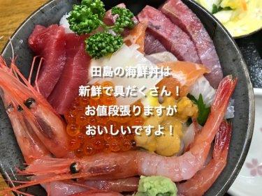 田島さんの海鮮丼は新鮮で具だくさん!お値段張りますがおいしいです!