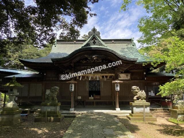 福井県三国町、三国神社の拝殿