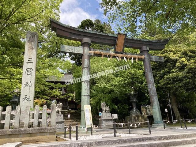 福井県三国町、三国神社の鳥居