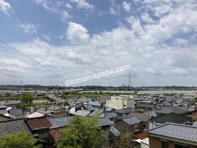三国神社、桜谷公園横の高台から見た景色