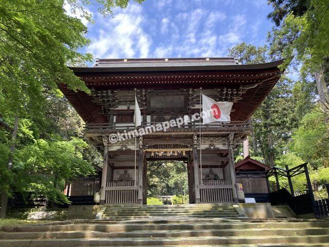 福井県三国町、三国神社の随身門