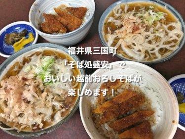 福井県三国町「そば処盛安」でおいしい越前おろしそばが楽しめます!