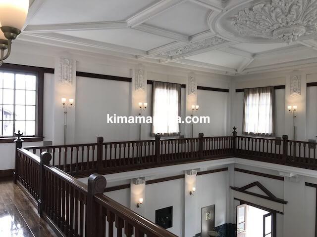 福井県三国町、旧森田銀行本店の天井