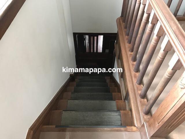 福井県三国町、旧森田銀行本店の階段