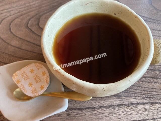 福井県大野市、ナマケモノの手摘み完熟ブラジルコーヒー