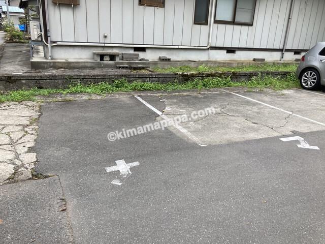 福井県大野市、ナマケモノの駐車場