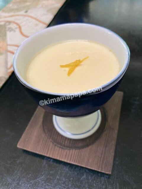 寿楽山、季節の日替わりご膳の茶碗蒸し