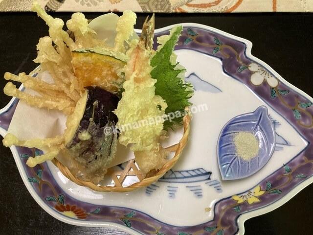 寿楽山、焼き鯖ご膳の天ぷら