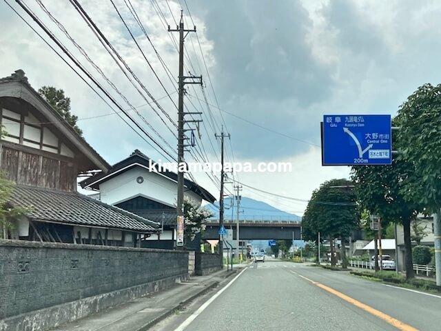 福井県大野市、大野インターから大野市内への道