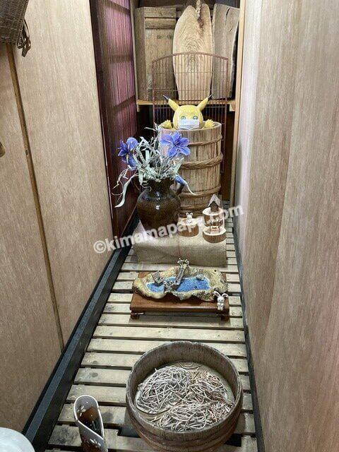 大野市、内田製麺所のディスプレイ
