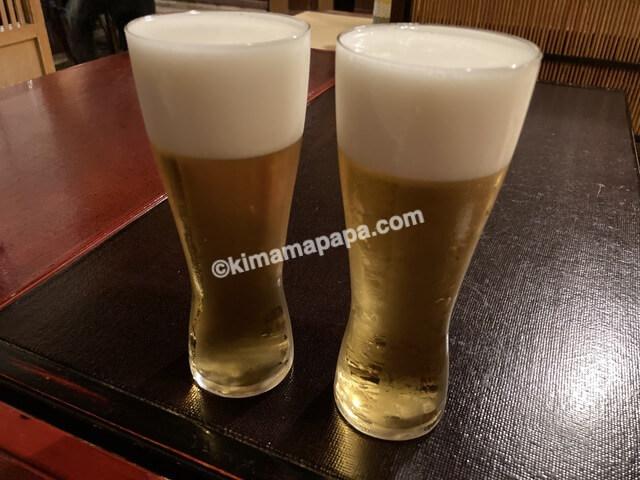 福井市、泰平の生ビール