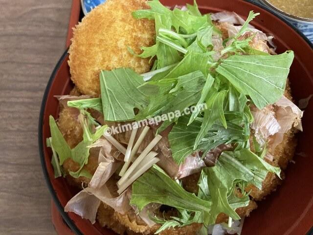 福井県鯖江市、味見屋の醤油カツ丼セット
