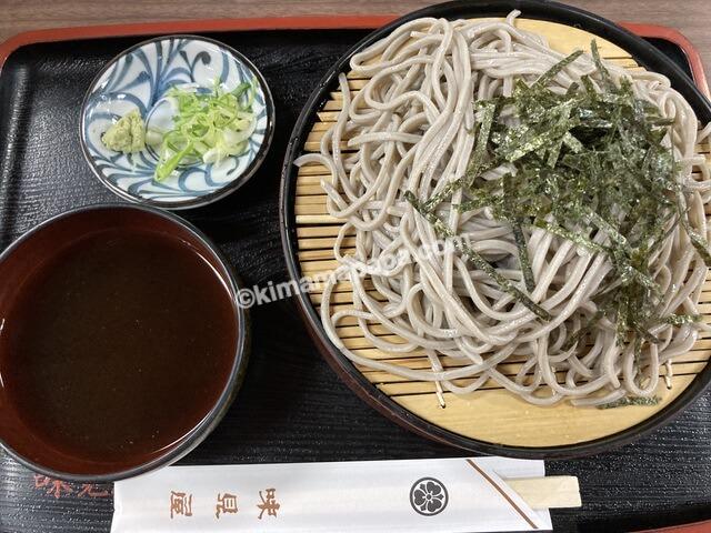 福井県鯖江市、味見屋のざるそば