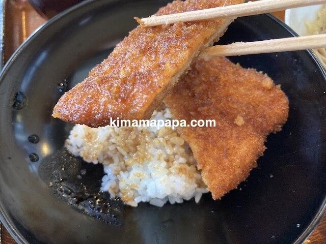 福井県鯖江市、二男坊のソースカツ丼小盛