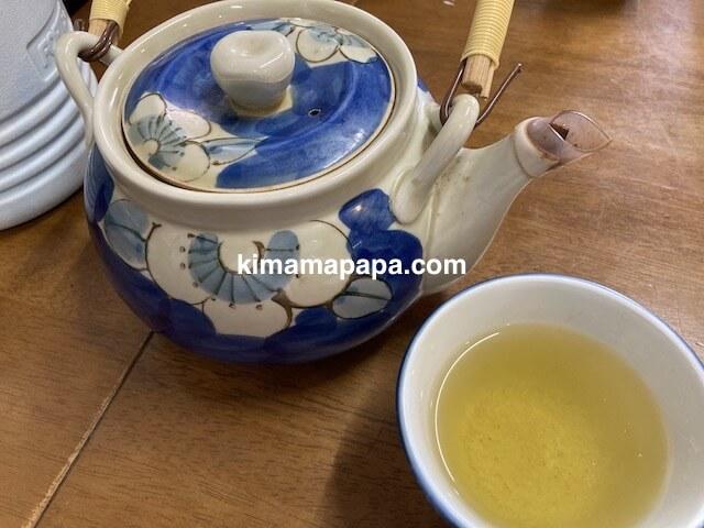 福井市、ふくい鮮いちばの喜多亭のお茶