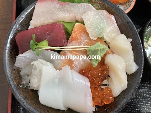 ふくい鮮いちば、田島の8種丼
