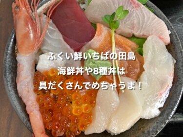 ふくい鮮いちばの田島、海鮮丼や8種丼は具だくさんでめちゃうま!
